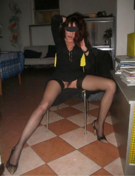 Hot girl in black